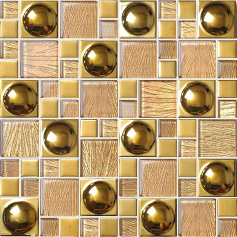 glazed porcelain tiles gold glass mosaic tile