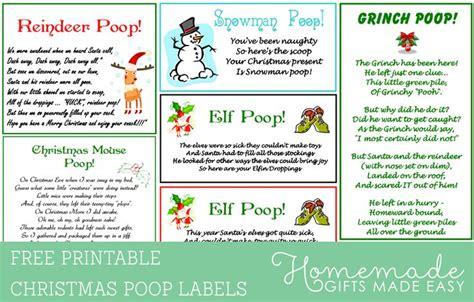 reindeer poop   christmas poop printable labels