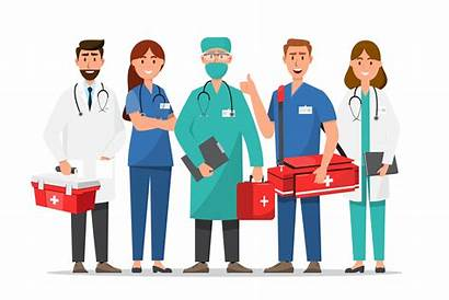 Nurses Doctors Cartoon Characters Vector Nurse Doctor