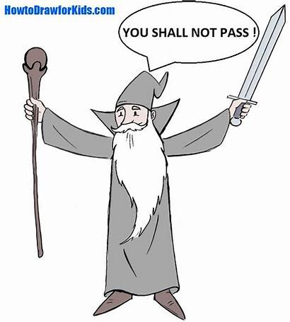 Wizard Gandalf Draw Cartoon Step Ready Dwarf