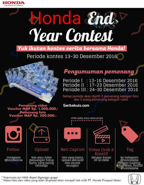 voucher map rp 1 500 000 honda end year contest