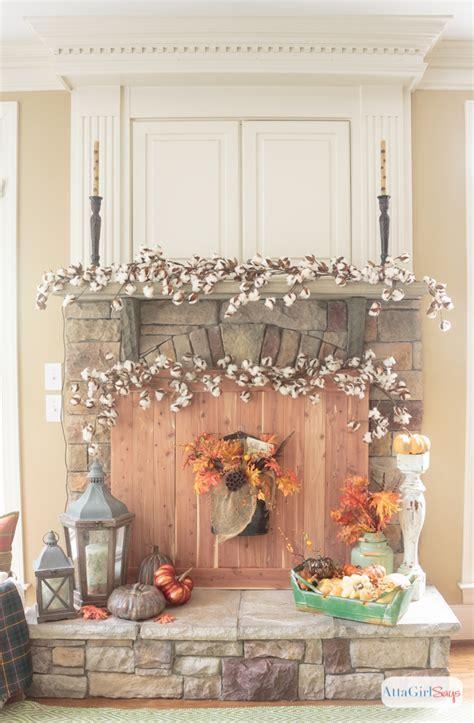 Fall Fireplace Mantel Decorating Ideas   Atta Girl Says