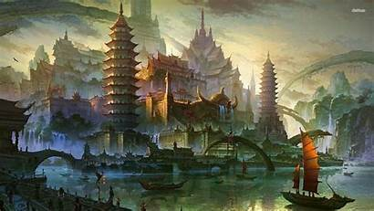 Chinese Background Wallpapers Ancient Fantasy Designs China