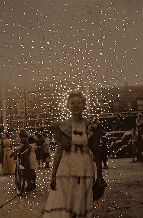 vintage photographs  small dots  light give