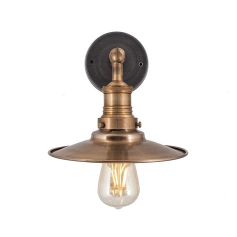vintage industrial style brass flat l shade