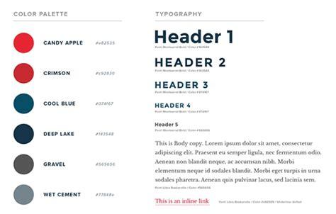 how to create a web design style guide designmodo