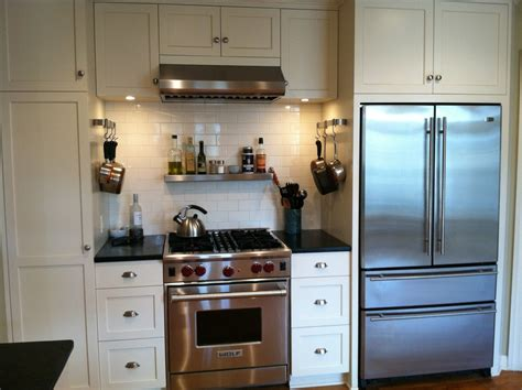 vintage kitchen tile backsplash baroque subway tile backsplash in traditional kitchen with