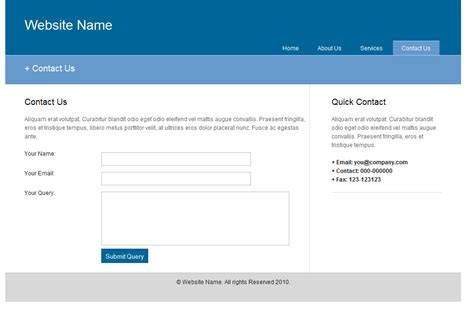 Page Template Web Templates A World Of Free Web Templates