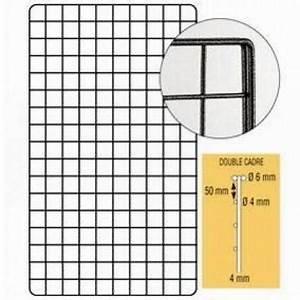 Cadre 70 X 100 : grille double cadre 200 x 100 cm gris martel syst mes ~ Dailycaller-alerts.com Idées de Décoration