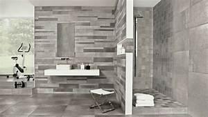 5 idees de carrelage pour la salle de bains With deco salle de bain carrelage