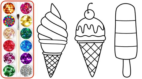 coloring ice cream  kids coloring pages  children