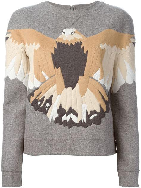 eagle applique lyst valentino eagle applique sweatshirt in gray