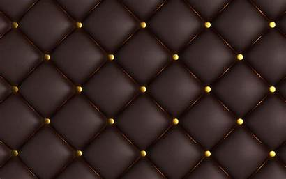 Texture Leather Sofa Brown Background Upholstery Buttons