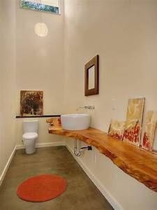 Plan Vasque Bois Brut : plan vasque bois brut dans la salle de toilette osez le style live edge deco salle de bain ~ Teatrodelosmanantiales.com Idées de Décoration