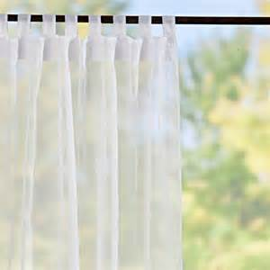 tab top sheer voile outdoor curtain panels white