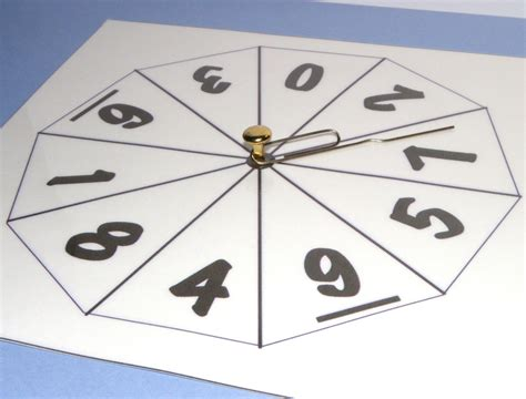spinner template number spinners for maths