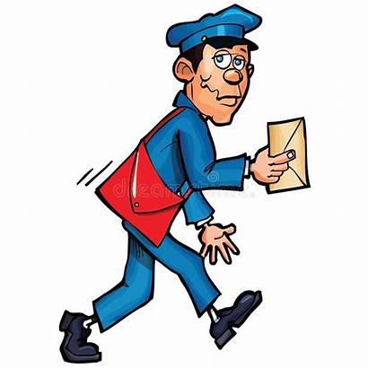 Mailman Mail Cartoon Delivering Clipart Clip Illustration