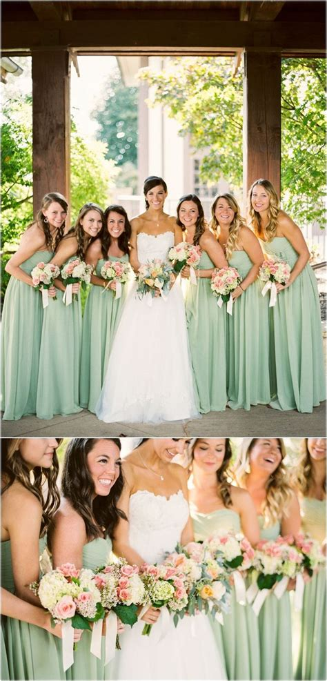 These Peach And Green Wedding Bouquets By Melissatimm Are