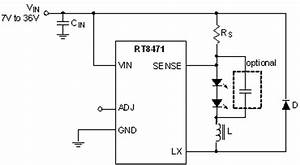 rt8471 12a 1a hysteretic high brightness led driver With 3w power led driver circuit pwm high power led driver step down dc