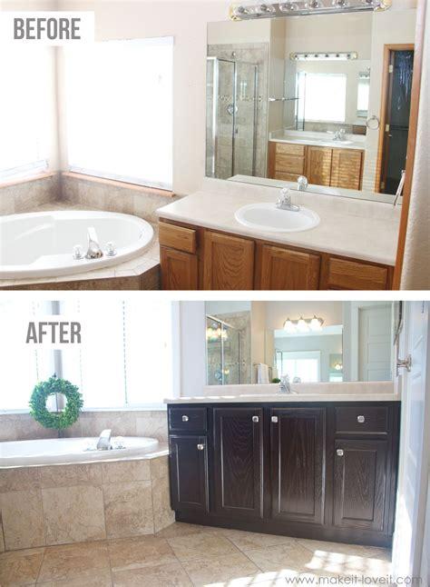 stain oak kitchen cabinets  bathroom
