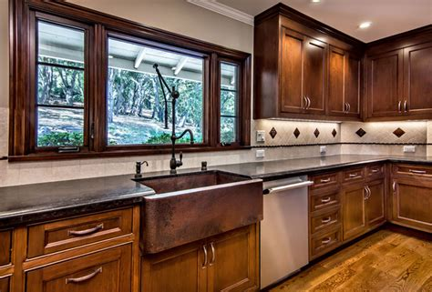 copper sink with stainless steel appliances native trails copper farmhouse sink traditional