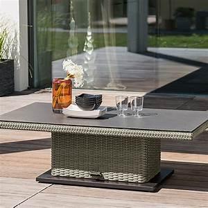 Polyrattan Tisch Höhenverstellbar : sunfun elements lift tisch amelie 135 x 75 cm polyrattan bauhaus ~ Eleganceandgraceweddings.com Haus und Dekorationen