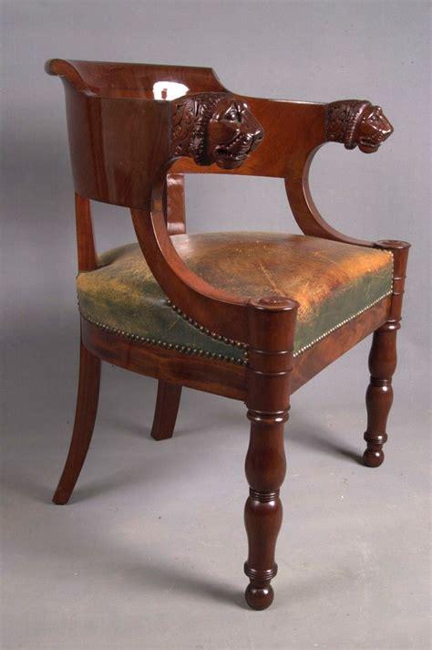restauration fauteuil ancien de bureau empire en acajou