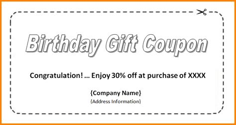free coupon template word coupon template word template business