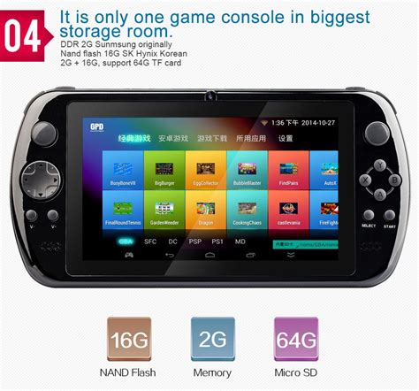 handheld emulator console gpd q9 7 quot handheld gamepad gaming console tablet android