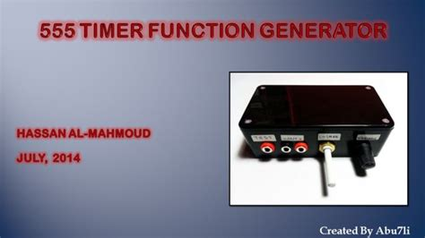 Timer Function Generator All