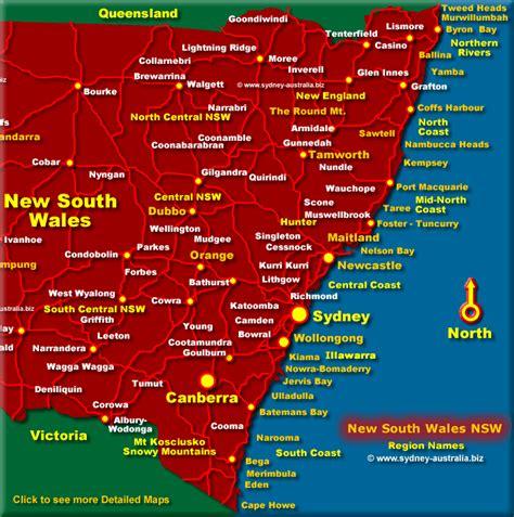 east  south wales map nsw coast