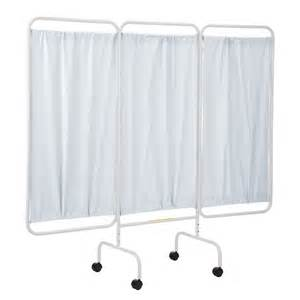 r b wire portable three panel patient privacy screen