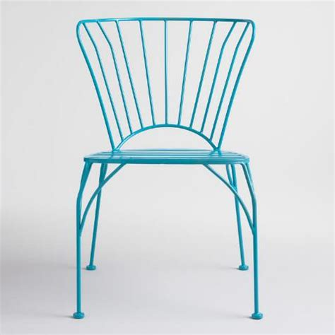 surf blue metal cadiz stacking chairs set of 2 world market