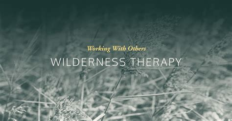 wilderness therapy