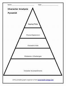 character analysis pyramid organizer With story pyramid template