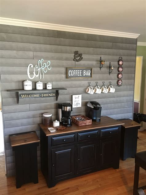 30+ stylish home coffee bar ideas (stunning pictures included). Pin by Carrie Ratkoski on My Castle (2020)   Coffee bar home, Coffee bar design, Diy coffee bar