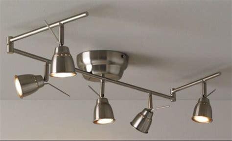 Ikea Barometer Ceiling Track Light, 5 Spots Nickel Plated