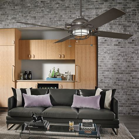 living room fans with lights kichler maor patio ceiling fan 310136oz living room sq