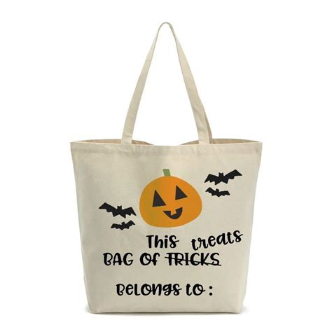 Web themes & templates code video audio graphics photos 3d files. Bag of Treats Halloween Trick or Treat Bag SVG DXF EPS PNG ...