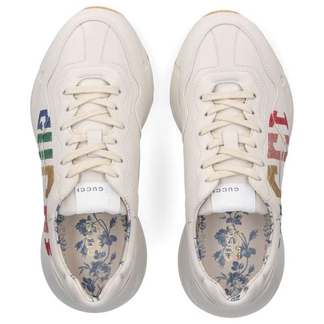 Following the los angeles angels iteration , gucci continues to dress its rhyton sneakers with. Gucci Low-top Sneakers Rhyton in Beige (Natural) - Lyst