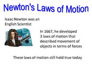 Isaac Newton Laws of Motion Examples