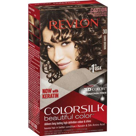 revlon colour silk hair colour  dark brown  woolworths