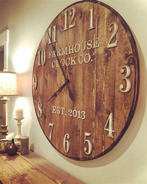 farmhouse clock  standard numeral wooden wall clock