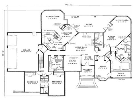 4 bedroom floor plans 2 4 bedroom house plans residential house plans 4 bedrooms
