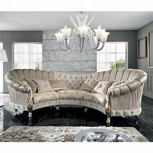 Sofa Designer Marken : 6 sitzer couch aus stoff im barock stil gebogen alexander ~ Whattoseeinmadrid.com Haus und Dekorationen
