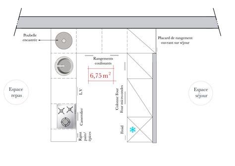 plans de cuisine ouverte plan cuisine en u avec coin repas cuisine en image