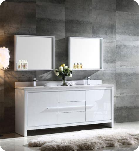 "Fresca Fvn8172wh Allier 72"" Double Sink Modern Bathroom"