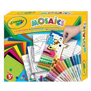 crayola my mosaics stickers by numbers workshop childrens kids craft set kit ebay