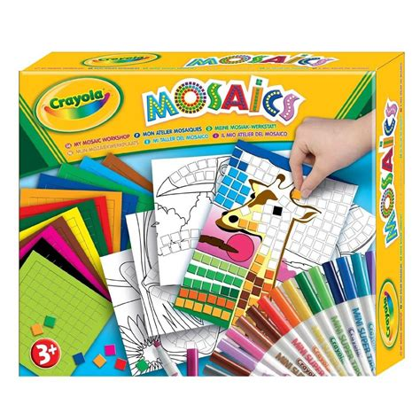 crayola my mosaics stickers by numbers workshop childrens
