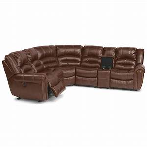 flexsteel crosstown six piece power reclining sectional With 6pc sectional sofa